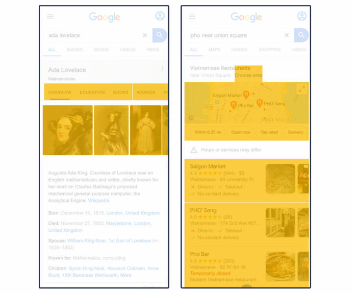 Examples of modules with Google product elements