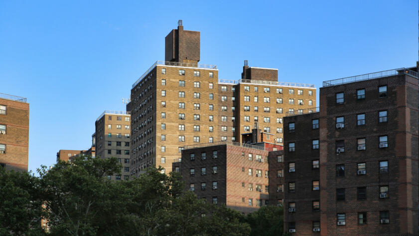 A photo of public housing projects in Manhattan, New York City
