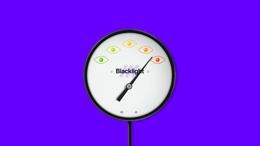 Illustration of Blacklight styled as a meat thermometer