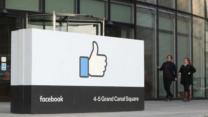 A photo of Facebook's European Headquarters in Dublin