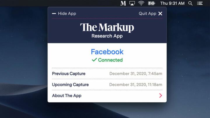 Screen capture of Citizen Browser desktop application