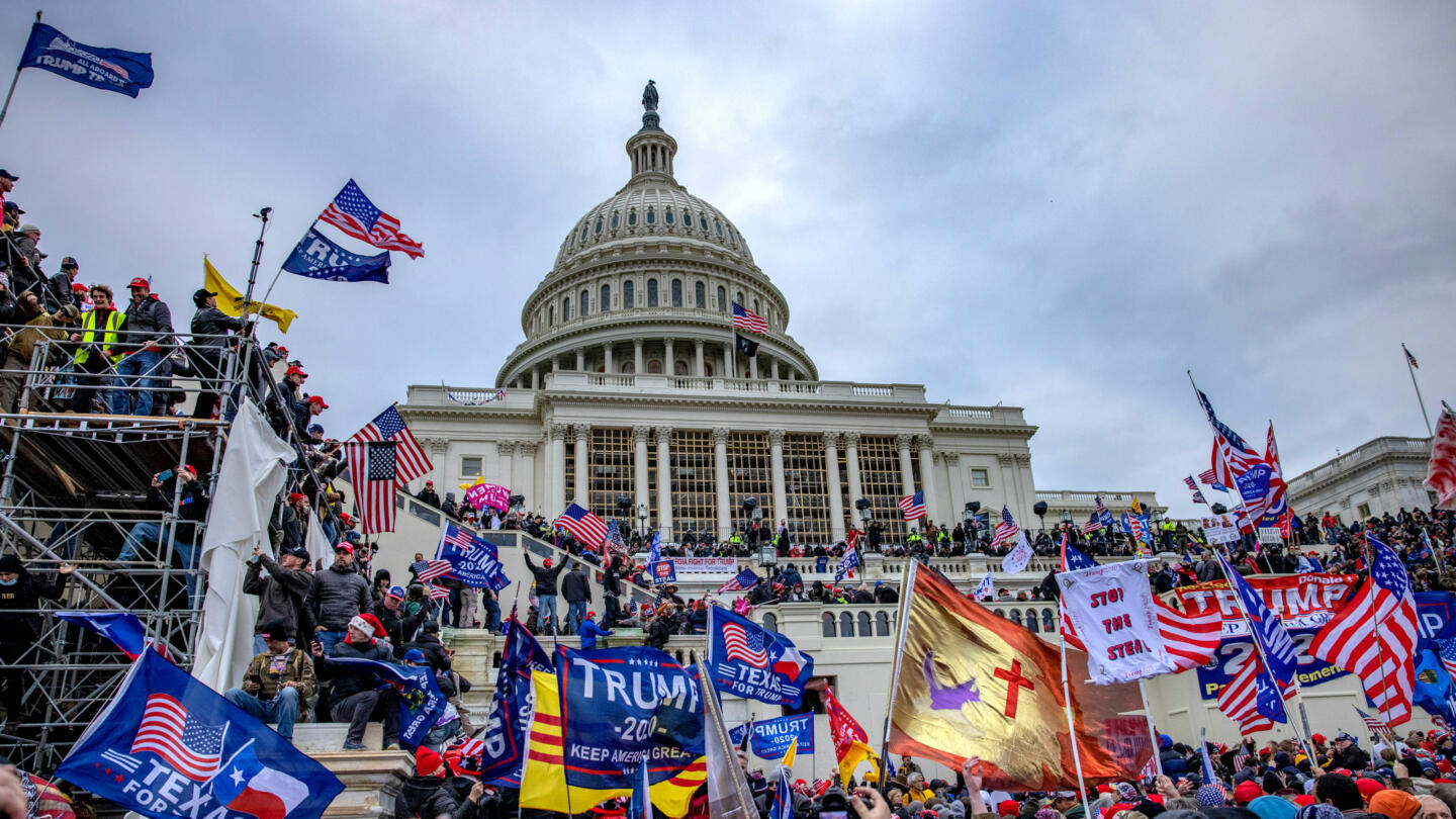 Trump rioters on Capitol Hill