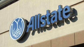 An photo a sign for Allstate Insurance