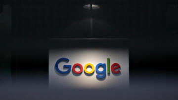 A photo of a Google logo at their European headquarters in Dublin