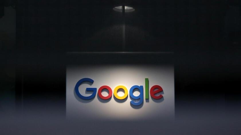 A photo of a Google logo at their European headquarters in Dublin