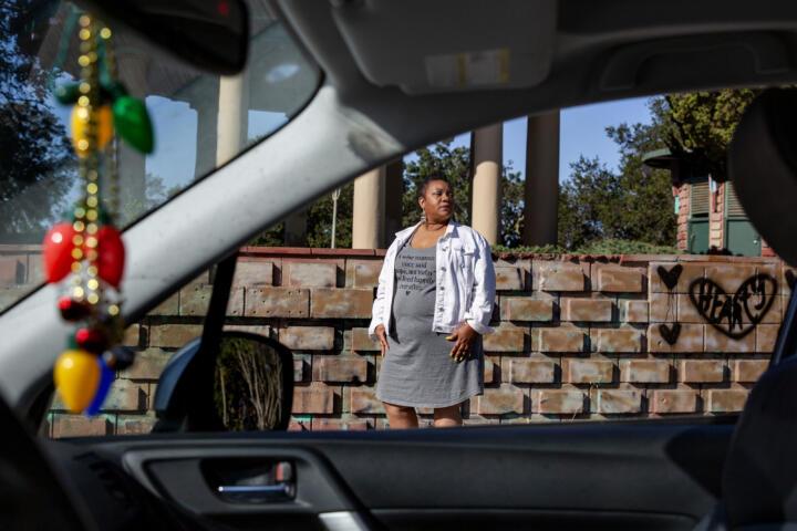 Mekela Edwards, a former Lyft and Uber driver.